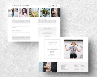 Media kit template etsy 2 page media kit template media kit template mixed media kit press kit pronofoot35fo Image collections
