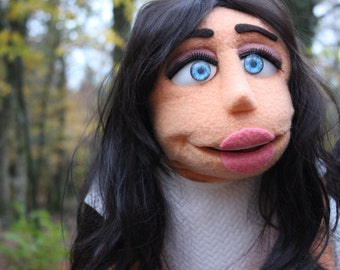 Custom Lady portrait professional puppet!