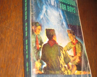 Vintage 1953 Boy Scout Handbook for Boys Lots of neat 50's ADVERTISING LAST PAGES 568 pg