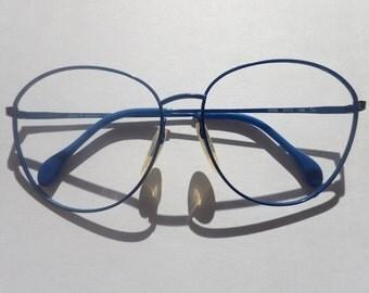 Zeiss P3 Eyeglasses/Sunglasses Frame Germany Blue Metal Frame West Germany 6595 2217