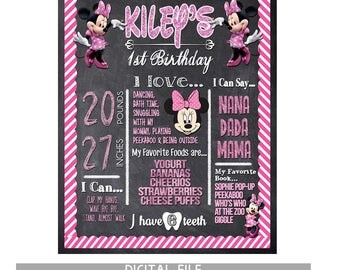 First Birthday Girl Minnie Mouse Birthday Party Minnie Mouse