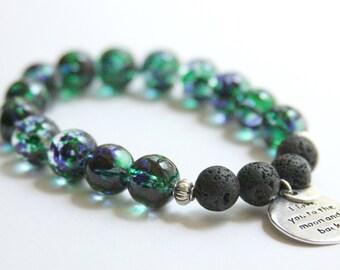 Custom Handmade Diffuser Bracelet, Memorial Jewelry, Memorial Bracelet, Diffuser Jewelry, Sympathy Gift, Bereavement Gift, Loss of Loved One