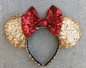 Belle themed disney ears