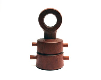 Vintage PEUGEOT 1960s modern teak pepper grinder, Pepper mill, Jens QUISTGAARD, Brand Dansk Designs, Salt shaker, Denmark