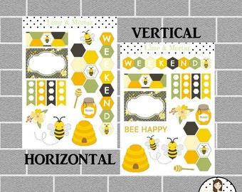 Bee Happy Decorative Planner Stickers