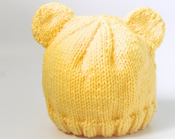 Knitted Baby Bear Hat I Knitted Baby Hat I Baby Hat I Baby Shower Gift