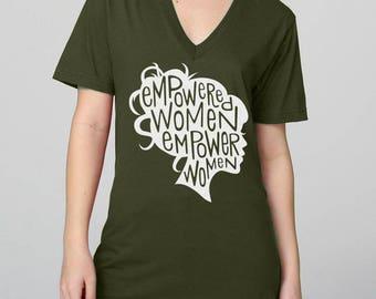 Feminist Art T-Shirt / Feminist Quote / Girl Boss / Empowered Women Empower Women Print