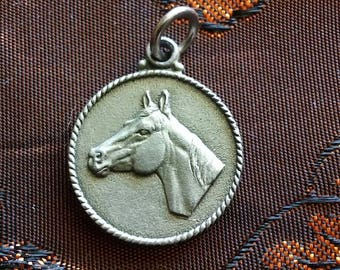 Pewter Horse Pendant for Necklace 1974 LTC Western
