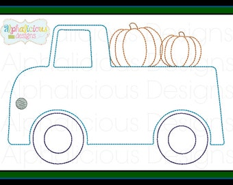 Vintage Truck with Pumpkin Embroidery Design- Vintage Truck Applique Design- Truck Design- Digitized Design- Embroidery- Applique