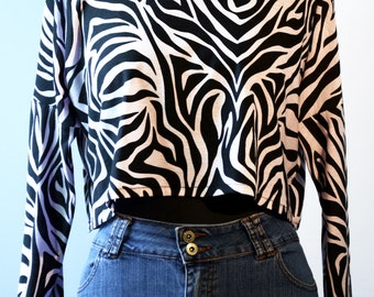 "Crop Top ""Pink Zebra"""
