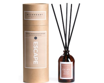 Organic Aromatherapy diffuser - NYC Apothecary style diffuser with essential oils of Geranium, Orange & Rosemary