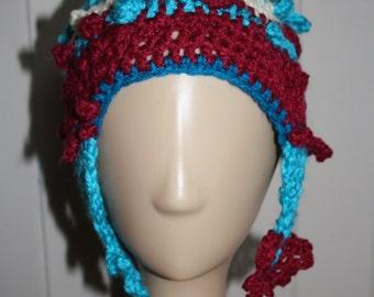 OOAK freeform crochet festival hat