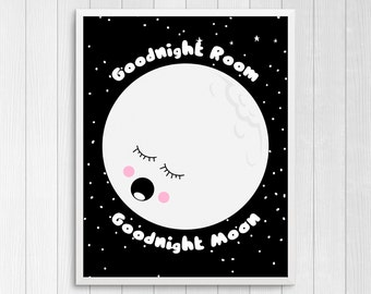 Goodnight moon print | Etsy