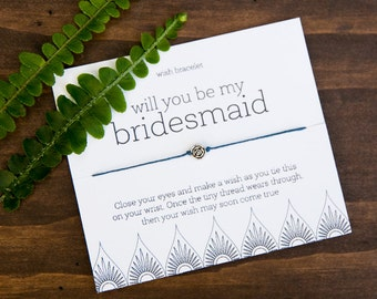Will You Be My Bridesmaid, Bridesmaid Wish Bracelet, Bridesmaid Proposal, Bridesmaid Gift, Wedding Gift, Personalized Gift, Bridal Party