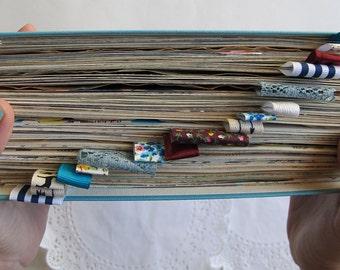 300 page junk journal, smash book, art journal - vintage hardcover altered book journal