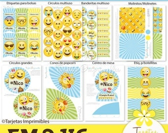 Emojis nene Kit of printable party decorations