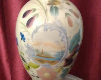 Antique continental handpainted vase
