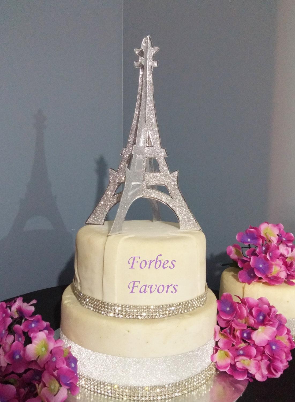 10 Inch Sparkling Silver Paper Eiffel Tower Paris Theme Wedding ...