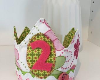 Handmade Reversible Adjustable Birthday and Dress Up Girls Crown