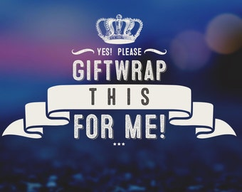 Please giftwrap my handknit purchase for me!