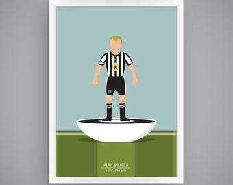 Alan Shearer - Newcastle United - Subbuteo Poster