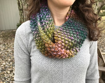 Multi-color Knitted Cowl