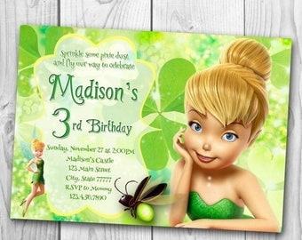 tinker bell party | etsy, Party invitations