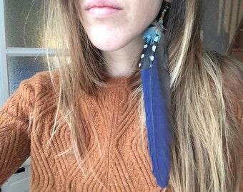Earring single macrame