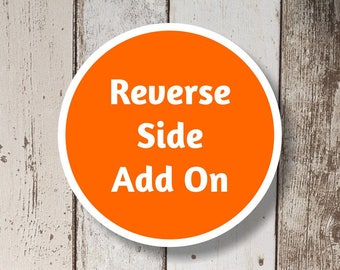 Reverse Side Add On - Add a Reverse Side to Your Instant-Invitation Template