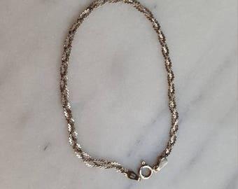 Italian Sterling silver braided bracelet