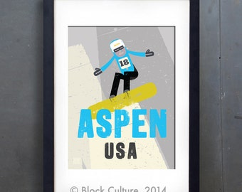 Aspen Snowboarder