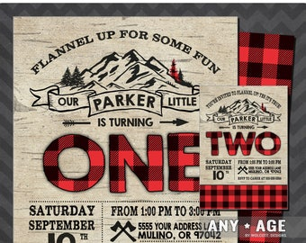 Lumberjack Birthday Invitation, Lumberjack Invite, Printable Lumberjack Invitation, Rustic, Lumberjack Birthday, Lumberjack Party