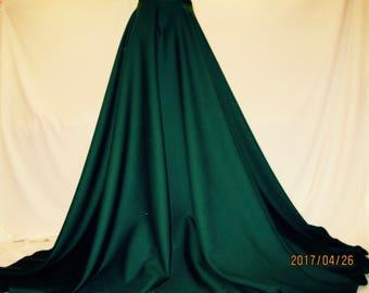 green circle skirtpoly wool mix green maxi skirtfull circle forest green skirt