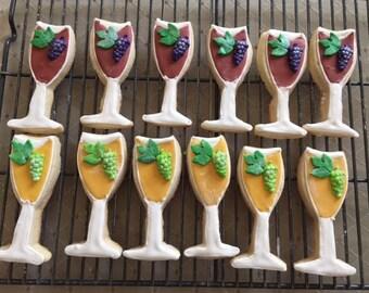 Wine Glass Designer Cookies