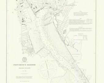 Providence Harbor Map 1897