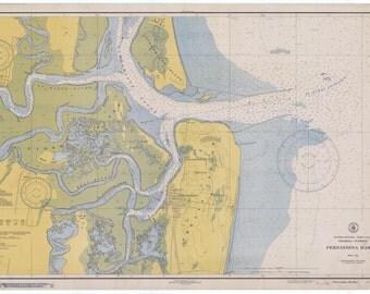 Fernandina Harbor Map 1939