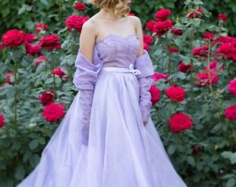 Off Shoulder Lavender Dress