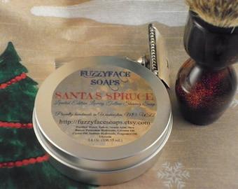 SANTA'S SPRUCE Luxury Tallow Shaving Soap Limited Edition Seasonal