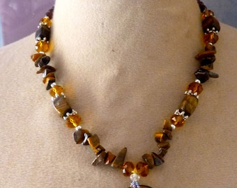 Super donut Tiger Eye necklace