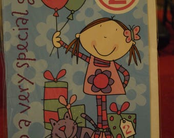 To a Very Special Girl!   2 Birthday Card