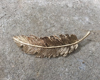 Boho Gold Feather Hair Clip HairPin Hair Accessory Barrette