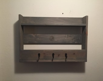 Reclaimed Wood Shelf Coat Rack