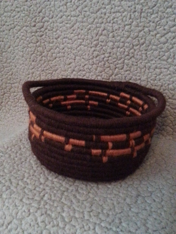 Handwoven Autumn Coil Baskets / Bowls w/ Handles
