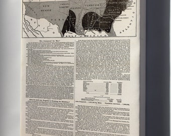 Canvas 24x36; Map And Progress Of The Civil War 1864