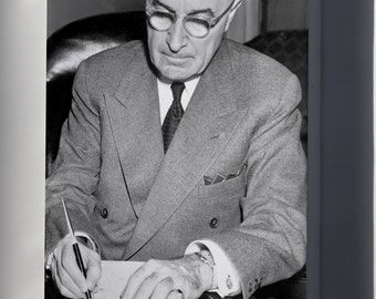 Canvas 24x36; President Truman Signing A Proclamation Declaring A National Emergency That Initiates U.S. Involvement In The Korean War