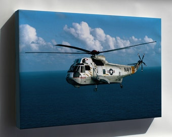 Canvas 24x36; U.S. Navy Sikorsky Sh-3G Sea King Helicopter 1983