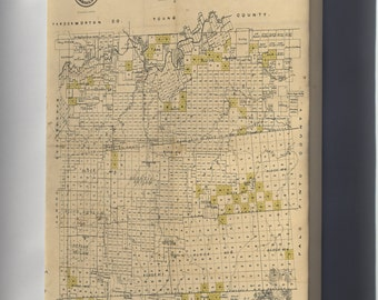 Canvas 24x36; Map Of Stephens County, Texas 1870