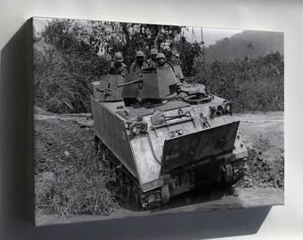 Canvas 16x24; M113 Armored Personnel Carrier Vietnam 1966 - Copy