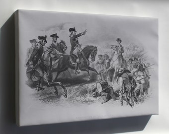 Canvas 16x24; George Washington At Monmouth