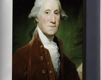 Canvas 16x24; George Washington, 1795-1796 By Gilbert Stuart